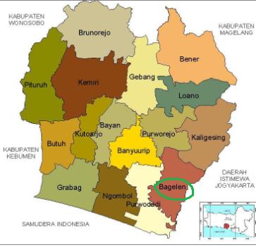 Daftar Kecamatan Di Purworejo