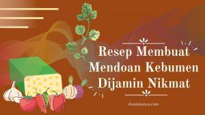 Read more about the article Resep Membuat Mendoan Kebumen Dijamin Nikmat