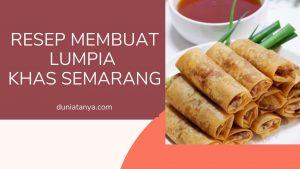Read more about the article Resep Membuat Lumpia Khas Semarang